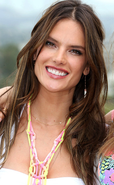 Alessandra Ambrosio promotes Victoria's Secret 2014 Swim Collection at The London Hotel on March 11, 2014 in West Hollywood, California. (Photo by JB Lacroix/WireImage)