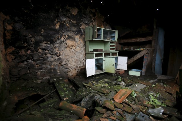 The interior of an abandoned house is seen in Agracoes, near Chaves, Portugal April 18, 2016. (Photo by Rafael Marchante/Reuters)