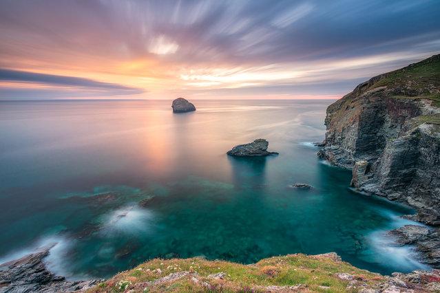 Cornwall Gul rock near-Trebar with Strand. (Photo by Alessio Putzu/Caters News Agency)