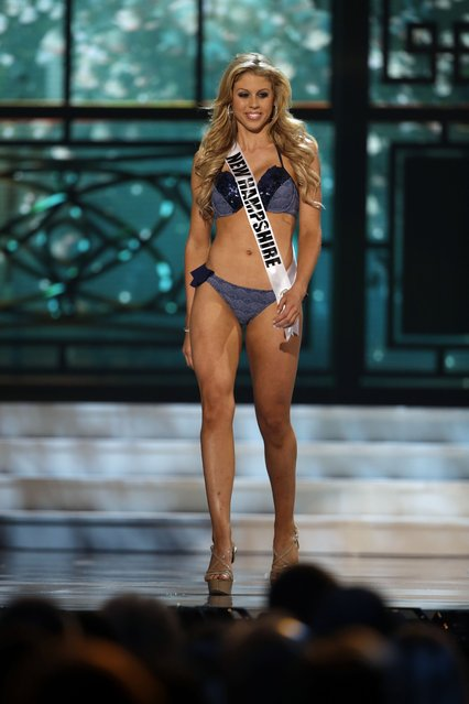 Miss New Hampshire, Samantha Poirier, competes in the bathing suit competition during the preliminary round of the 2015 Miss USA Pageant in Baton Rouge, La., Wednesday, July 8, 2015. (Photo by Gerald Herbert/AP Photo)