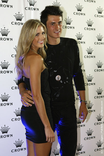 Bernard Tomic of Australia arrives at the 2012 Australian open Players Party