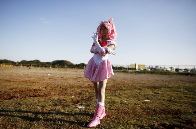 "A cosplay enthusiast poses as Chibiusa of the Sailor Moon manga series during the ""Anime Friends"" annual event in Sao Paulo July 19, 2015. (Photo by Nacho Doce/Reuters)"