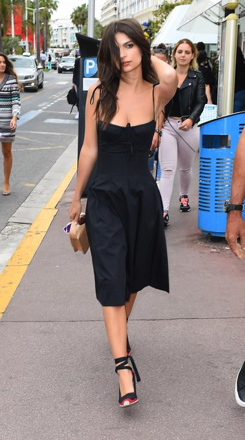 Emily Ratajkowski; Celebrities out and about, 70th Cannes Film Festival, France on May 18, 2017. (Photo by Splash News and Pictures)