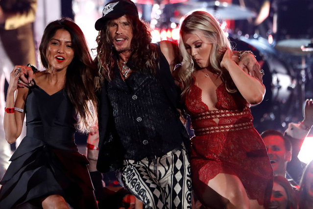 Steven Tyler of the musical group Aerosmith, perform at the 62nd annual Grammy Awards on Sunday, January 26, 2020, in Los Angeles. (Photo by Mario Anzuoni/Reuters)