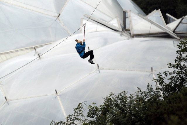 England's Longest Zip Wire Opens At The Eden Project