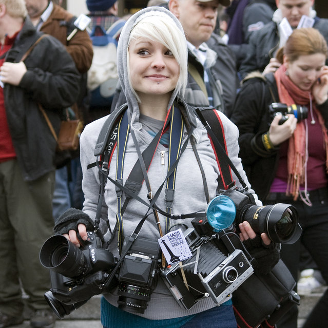 Camera girl. (Photo by James M. Thorne)