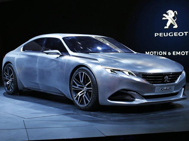 The Peugeot EXALT concept car is displayed on media day at the Paris Mondial de l'Automobile, October 2, 2014. (Photo by Benoit Tessier/Reuters)