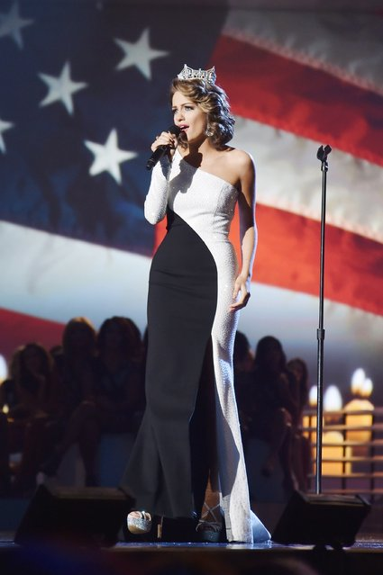 Miss America 2016 Betty Cantrell performs onstage during the 2017 Miss America Competition at Boardwalk Hall Arena on September 11, 2016 in Atlantic City, New Jersey. (Photo by Michael Loccisano/Getty Images for dcp)