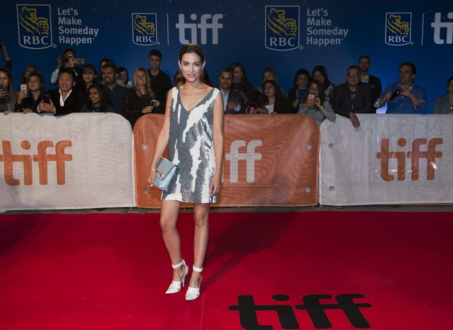 "Actor Kathleen Munroe arrives on the red carpet for the premiere of ""The Headhunter's Calling"" during the 2016 Toronto International Film Festival in Toronto, Wednesday, September 14, 2016. (Photo by Nathan Denette/The Canadian Press via AP Photo)"
