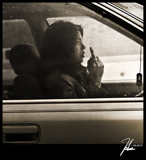 """""""Alhambra Street Photography – The Beautiful Road Rage"""". (Photo and comment by Hsin Tai Liu)"""