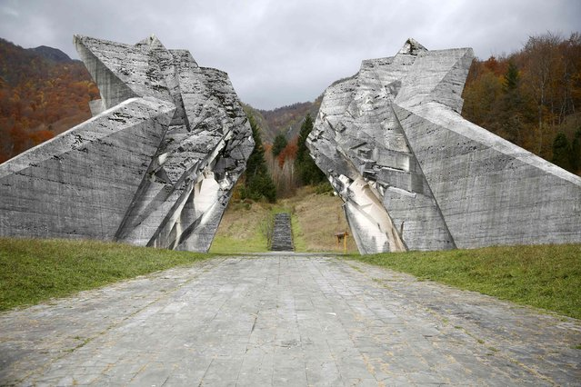 """General view of the memorial monument """"Battle of Sutjeska"""" in Tjentiste, Bosnia, November 7, 2014. (Photo by Dado Ruvic/Reuters)"""