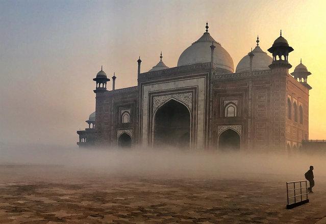 Shortlisted: Taj Mahal. Sunrise at the Taj Mahal, India. (Photo by Gillian McDonald/Historic Photographer of the Year 2020)