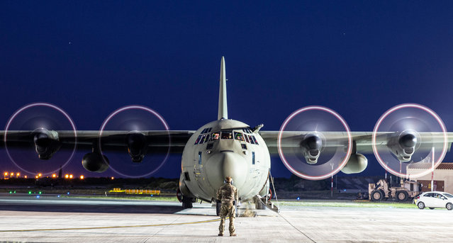 Other entries. An RAF Hercules C-130J aircraft prepares for departure at RAF Akrotiri Base in Cyprus. This image was one of 900 submitted to this year's competition. (Photo by Sgt Neil Bryden/2020 RAF Photo Competition)