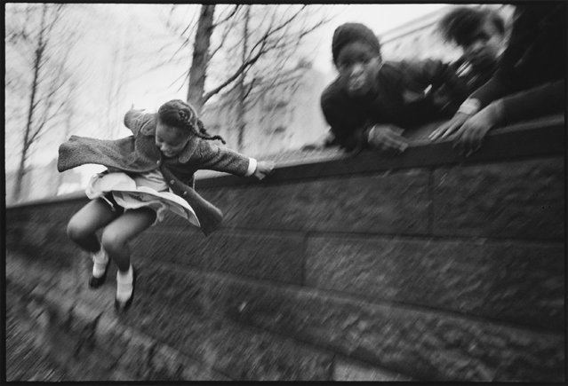 Girl jumping over a wall, Central Park, New York, 1967. (Photo by Mary Ellen Mark)
