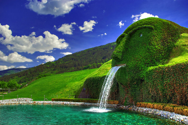 The Swarovski Crystal Head Fountain In Austria