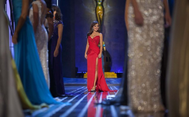 Miss Alabama Chandler Champion competes in the evening gown competition of during the preliminary round of Miss America. (Photo by Carlo Allegri/Reuters)