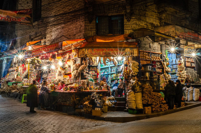 """""""The Witches' Market in La Paz, Bolivia"""". (Photo by Pawel Tatarek/The Guardian)"""