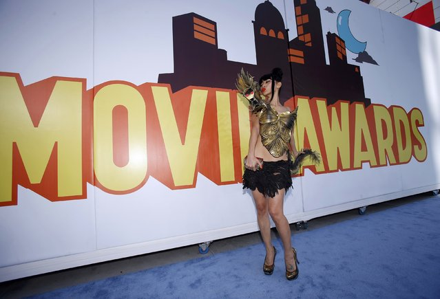 Bai Ling arrives at the 2015 MTV Movie Awards in Los Angeles, California April 12, 2015. (Photo by Mario Anzuoni/Reuters)