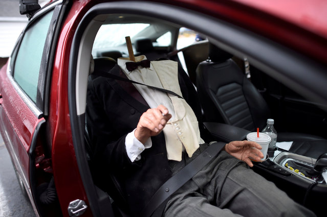 A wax figure of President William Howard Taft is seated in the front seat with his detached head in the back after it was  purchased from an auction of the Hall of Presidents Museum, which closed in November, in Gettysburg, Pennsylvania, U.S. January 14, 2017. (Photo by Mark Makela/Reuters)