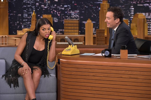 """Taraji P Henson Visits """"The Tonight Show Starring Jimmy Fallon"""" at NBC Studios on February 24, 2016 in New York City. (Photo by Theo Wargo/Getty Images for NBC)"""
