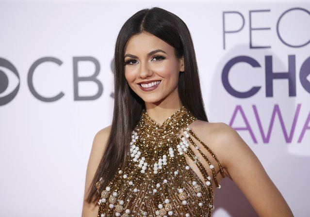Actress Victoria Justice arrives at the People's Choice Awards 2017 in Los Angeles, California, U.S., January 18, 2017. (Photo by Danny Moloshok/Reuters)