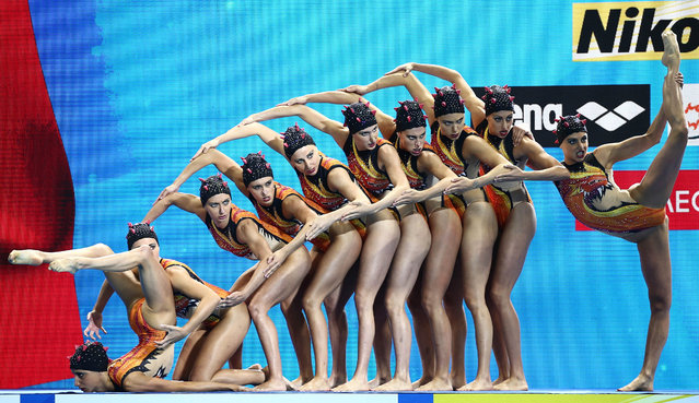 Team Italy competes in the highlight final during the 18th FINA World Swimming Championships at Yeomju Gymnasium, Gwangju, South Korea on July 15, 2019. (Photo by Antonio Bronic/Reuters)