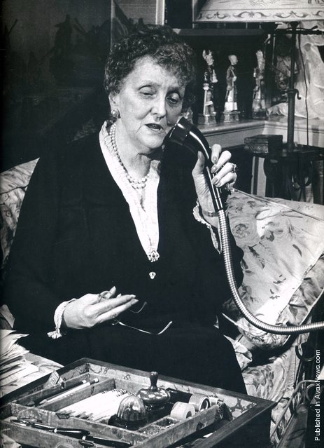 American writer and authority on etiquette Emily Post. USA, 1946