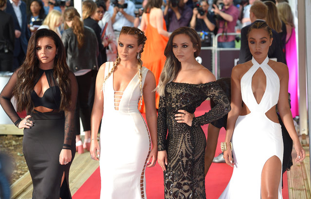 (L-R) Jesy Nelson, Perrie Edwards, Jade Thirlwall and Leigh-Anne Pinnock of Little Mix arrive for the Glamour Women Of The Year Awards in Berkeley Square Gardens on June 7, 2016 in London, United Kingdom. (Photo by Karwai Tang/WireImage)
