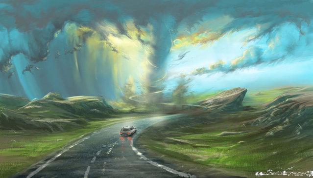 Digital Paintings By Alexander Rommel