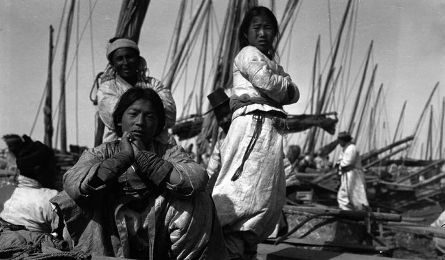 Antung Harbor, Manchuria, 1904, where London reported on the Russo-Japanese war. (Photo by Jack London/Courtesy of Contrasto)