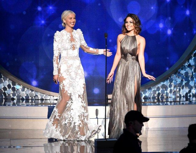 Julianne Hough, left, and Vanessa Hudgens during night two of the Television Academy's 2016 Creative Arts Emmy Awards at the Microsoft Theater on Sunday, September 11, 2016 in Los Angeles. (Photo by Phil McCarten/Invision for the Television Academy/AP Images)