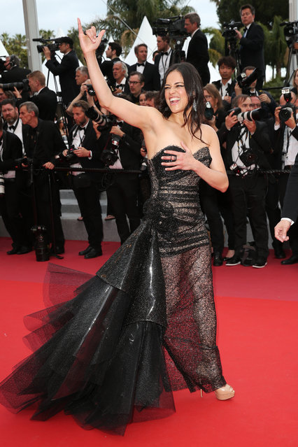 """Michelle Rodriguez attends the screening of """"Solo: A Star Wars Story"""" during the 71st annual Cannes Film Festival at Palais des Festivals on May 15, 2018 in Cannes, France. (Photo by Gisela Schober/Getty Images)"""