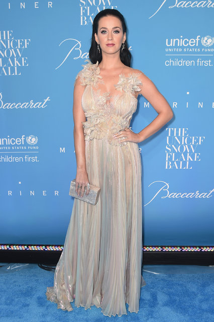 Katy Perry attends the 12th Annual UNICEF Snowflake Ball at Cipriani Wall Street on November 29, 2016 in New York City. (Photo by Michael Loccisano/Getty Images)