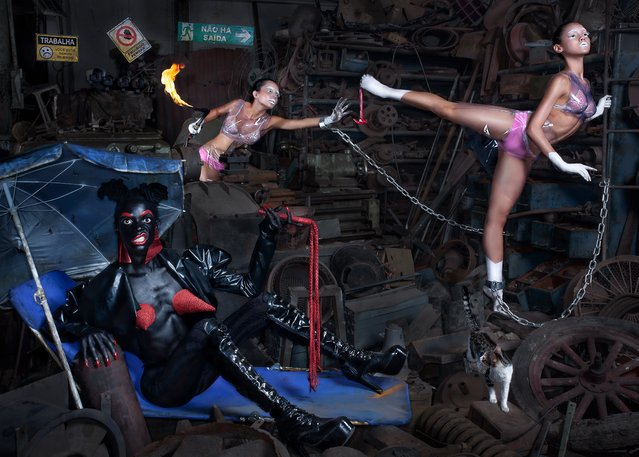 The photos feature models, performers, actors and drag queens who, according to Kurucz, are all very much a part of the creative process. (Photo by Kolor Art Collective/The Guardian)