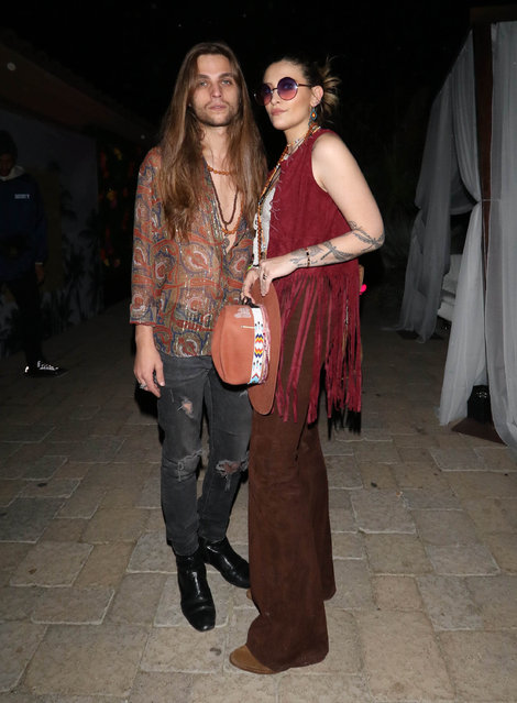 Paris Jackson and Gabriel Glenn are seen at Coachella on April 14, 2019 in Indio, California. (Photo by Hollywood To You/Star Max/GC Images)