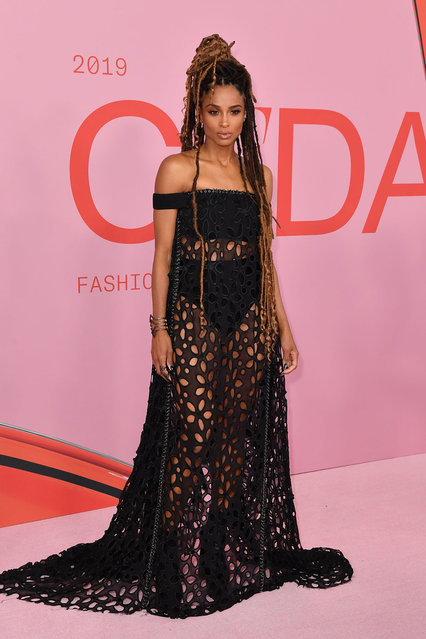 US singer Ciara arrives for the 2019 CFDA fashion awards at the Brooklyn Museum in New York City on June 3, 2019. (Photo by Angela Weiss/AFP Photo)