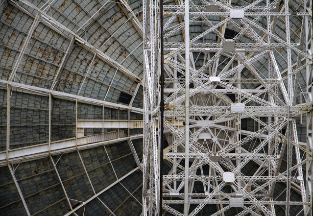 Lovell Telescope by Marge Bradshaw. I have been fascinated with the Lovell Telescope at Jodrell Bank since I went on a school trip, says Bradshaw. She wanted to take a series of closer, more detailed shots, showing the wear on it, she adds. (Photo by Marge Bradshaw/2019 Science Photographer of the Year/RPS)