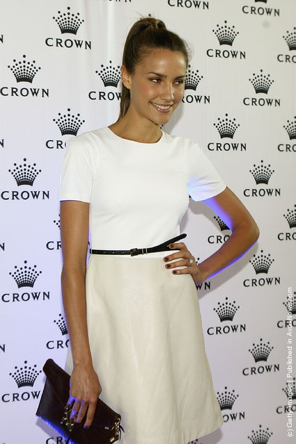 Rachael Finch arrives at the 2012 Australian open Players Party at Crown Towers