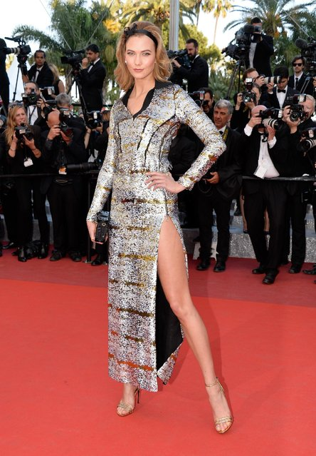 "Karlie Kloss attends the ""Julieta"" premiere during the 69th annual Cannes Film Festival at the Palais des Festivals on May 17, 2016 in Cannes, France. (Photo by Pascal Le Segretain/Getty Images)"