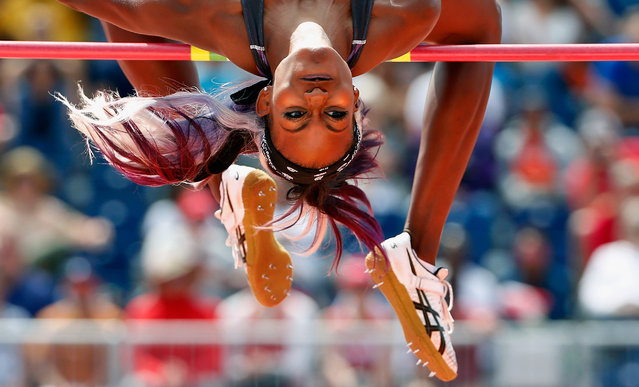 Priscilla Frederick of Antigua and Barbuda competes in the women's high jump final during Day 12 of the Toronto 2015 Pan Am Games on July 22, 2015 in Toronto, Canada. (Photo by Ezra Shaw/Getty Images)