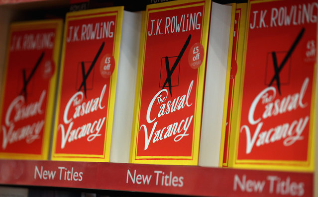 Copies of J. K. Rowling's latest novel 'The Casual Vacancy' are on display at Foyles bookshop which has gone on sale today starting at 8:00 am on September 27, 2012 in London, England.  'The Casual Vacancy' is J. K. Rowling's first book aimed at an adult readership and is centered on a parish council election in a small West Country town.  (Photo by Oli Scarff)