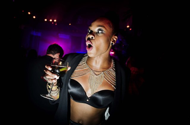Ebony Williams attends a post-midnight after-party for the Fashion Rocks concert, during New York Fashion Week, September 10, 2014. The concert, held earlier at the Barclays Center, included performances by Jennifer Lopez, Nicki Minaj, Duran Duran and Usher. (Photo by Dina Litovsky/The New York Times)