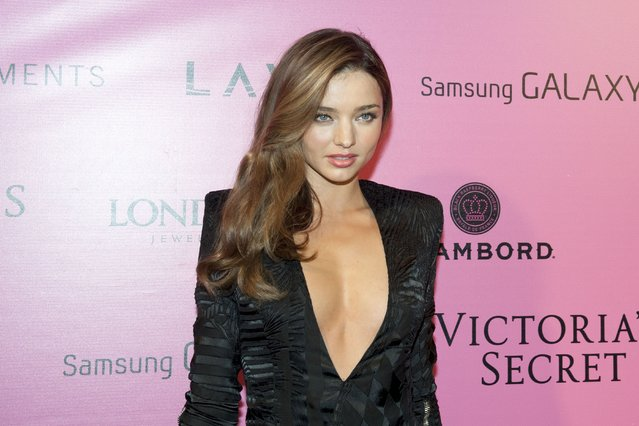 Model Miranda Kerr attends the after party for the 2012 Victoria's Secret Fashion Show at Lavo NYC on November 7, 2012 in New York City. (Photo by Jim Spellman/WireImage)