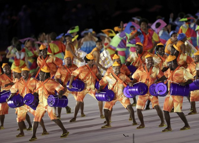 2016 Rio Paralympics, Opening ceremony, Maracana, Rio de Janeiro, Brazil on September 7, 2016. Performers take part in the opening ceremony. (Photo by Ueslei Marcelino/Reuters)