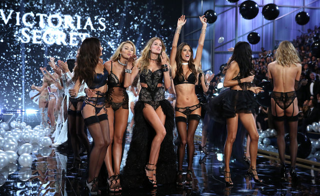 Models walk the runway at the annual Victoria's Secret fashion show at Earls Court on December 2, 2014 in London, England. (Photo by Tim P. Whitby/Getty Images)