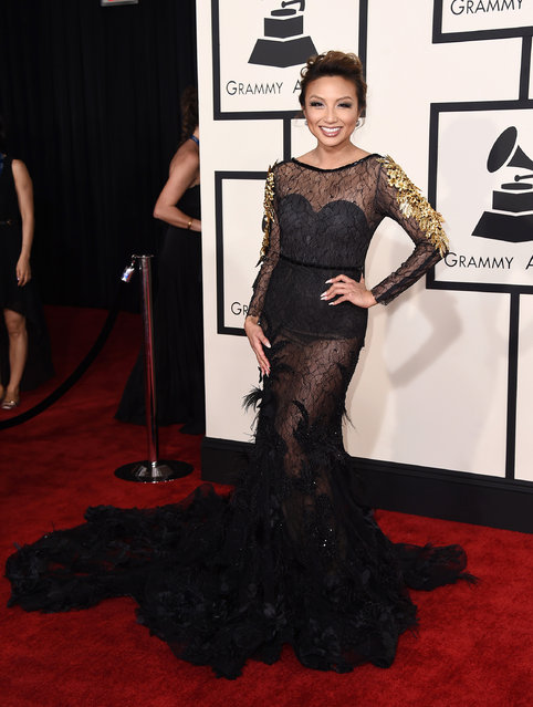 Jeannie Mai arrives at the 57th annual Grammy Awards at the Staples Center on Sunday, February 8, 2015, in Los Angeles. (Photo by Jordan Strauss/Invision/AP Photo)