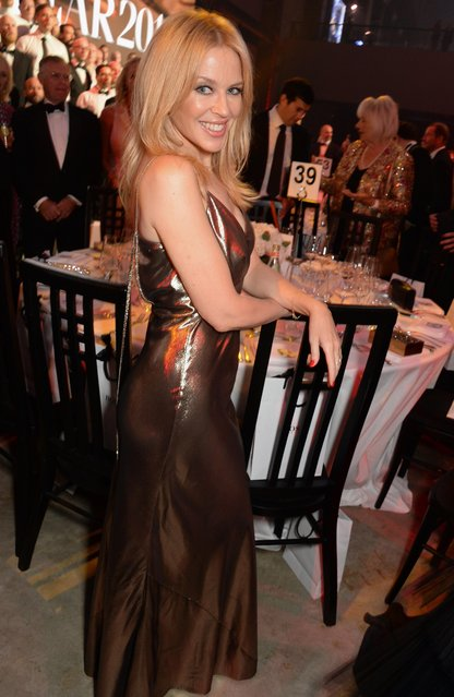 Kylie Minogue attends the GQ Men of the Year Awards 2018 in association with HUGO BOSS at Tate Modern on September 5, 2018 in London, England. (Photo by David M. Benett/Dave Benett/Getty Images for Hugo Boss)