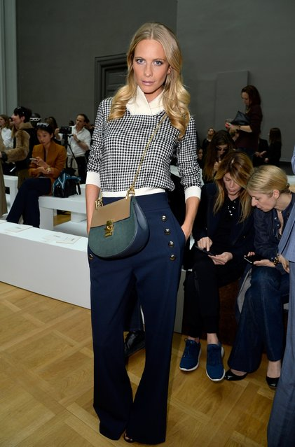 PARIS, FRANCE - MARCH 08: Poppy Delevingne attends the Chloe show as part of the Paris Fashion Week Womenswear Fall/Winter 2015/2016 on March 8, 2015 in Paris, France.  (Photo by Pascal Le Segretain/Getty Images)