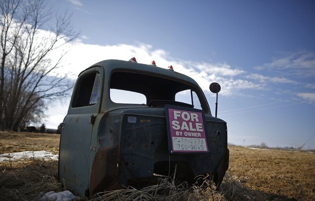 Part of a truck is seen for sale in Marshalltown, Iowa, March 8, 2015. (Photo by Jim Young/Reuters)