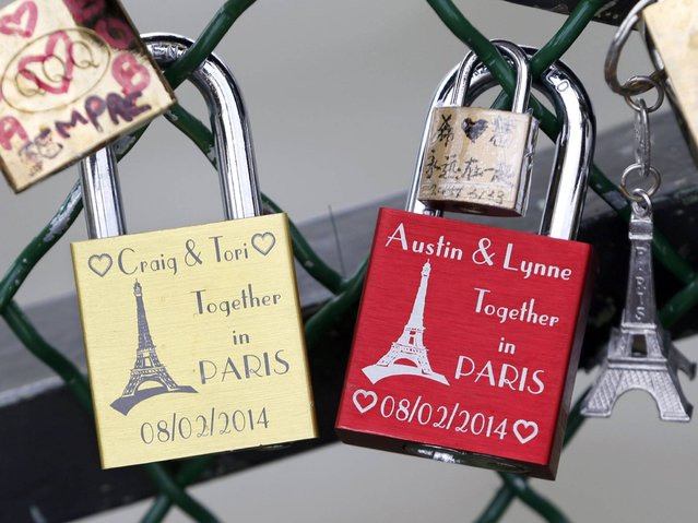 Pont des Arts is one of the top, most visited touristic attractions in Paris. (Photo by Charles Platiau/Reuters)
